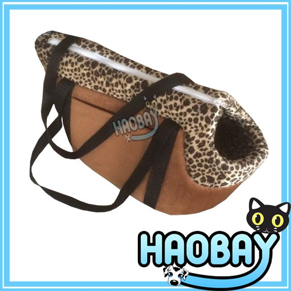 2015 the newest lightweight soft-sided luxury leopard pet carrier bag