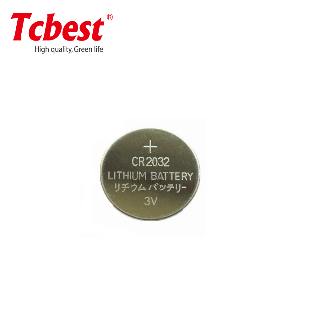High Quality 3V Lithium Button Cell Tcbest CR2032 battery with Solder Tabs tags