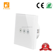 Home automatic smart wall light soft touch switch 1 way 2 way 3 gang basic function