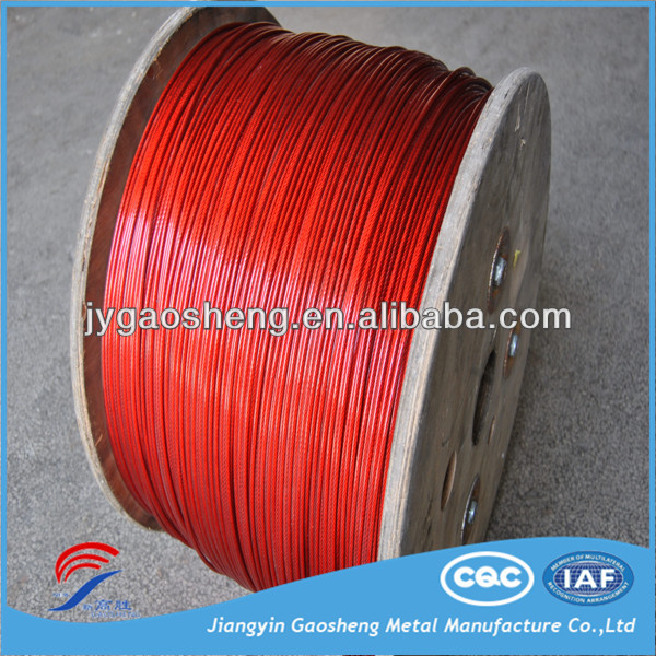 7x7 galvanised steel wire rope pvc coated
