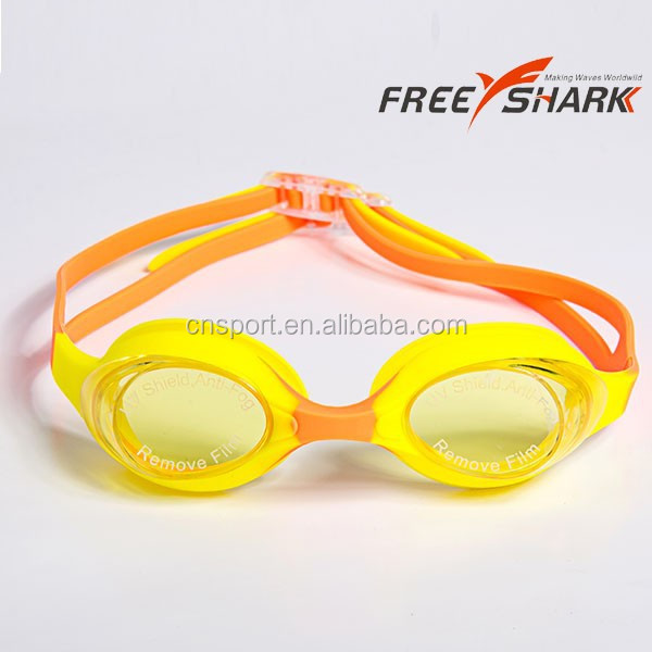Colorful silicone kids swimming goggles