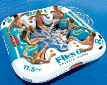 inflatable floating island/inflatable floating water park/inflatable water floating bed