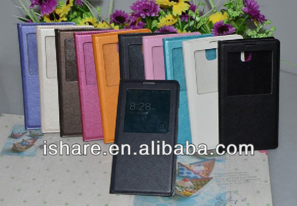 Smart Windows View Flip Cover Leather Case for Samsung Galaxy Note 3 Smart Cover Case