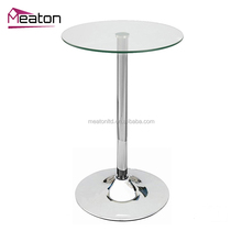 Modern living room furniture high square glass Table-board bar table design