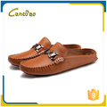 Autumn 2016 cheap men stylish slide leather flat sandals