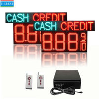 "16"" LED Fuel Price Digital Sign With CASH CREDIT for Gas Station"