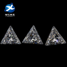 Hot Sale Loose Gemstone Triangle Shape 5A White Cubic Zirconia