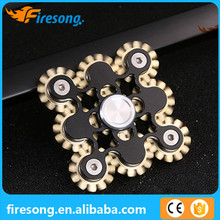 Super Popular High Quality R188 Bearing Metal Fidget Spinner Special 9 Gear Linkage Hand Spinner Toy