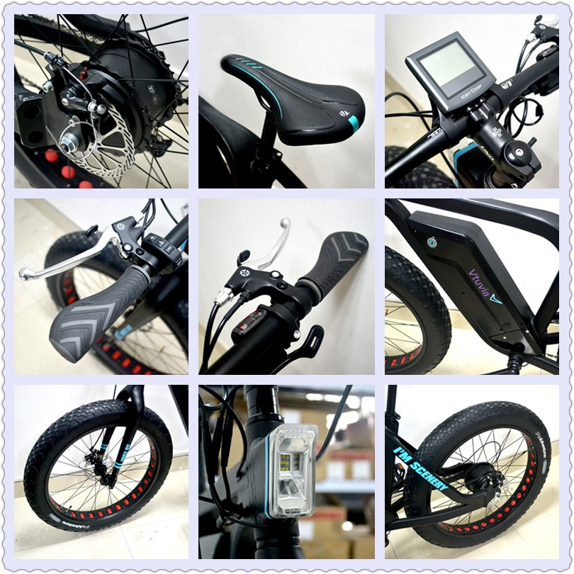New product 48v 500w fat tire ebike for snow beach