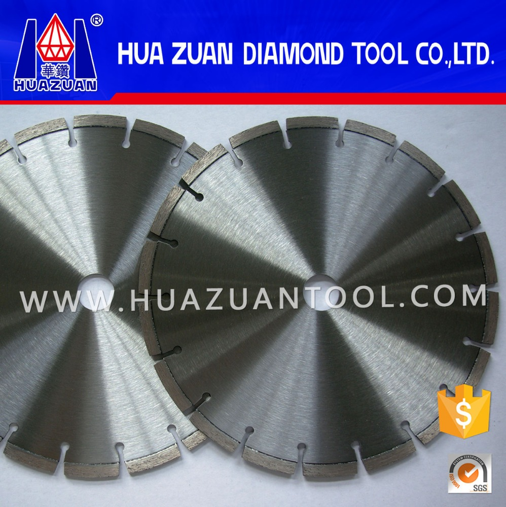 laser welded 350mm road cutting concrete diamond saw blade applied in walk behind cutter