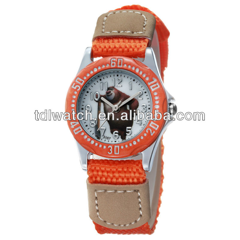Popular Nylon Strap Kids Sports Watch Orange