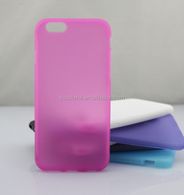 Custom Design Frosted Matte Back TPU Jelly Gel Soft Case for iPhone 6 4.7""