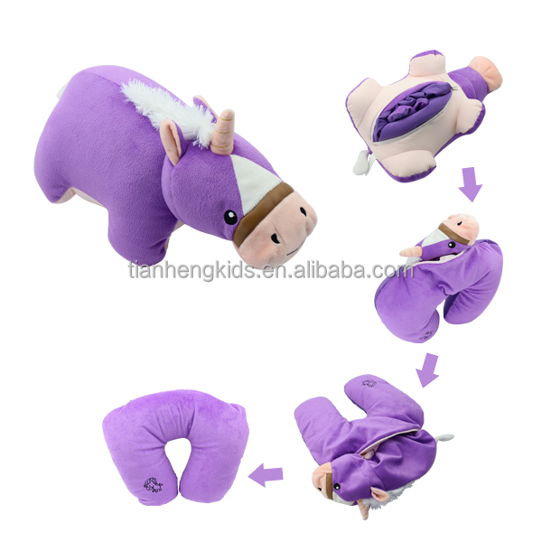Unicorn animal toy fur fabric plush toy lovely soft polyester stuffed toys for children gift