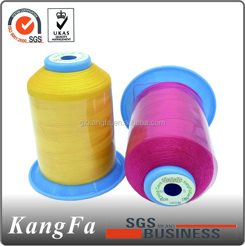 Kangfa leather 100 cotton sewing yarn factory