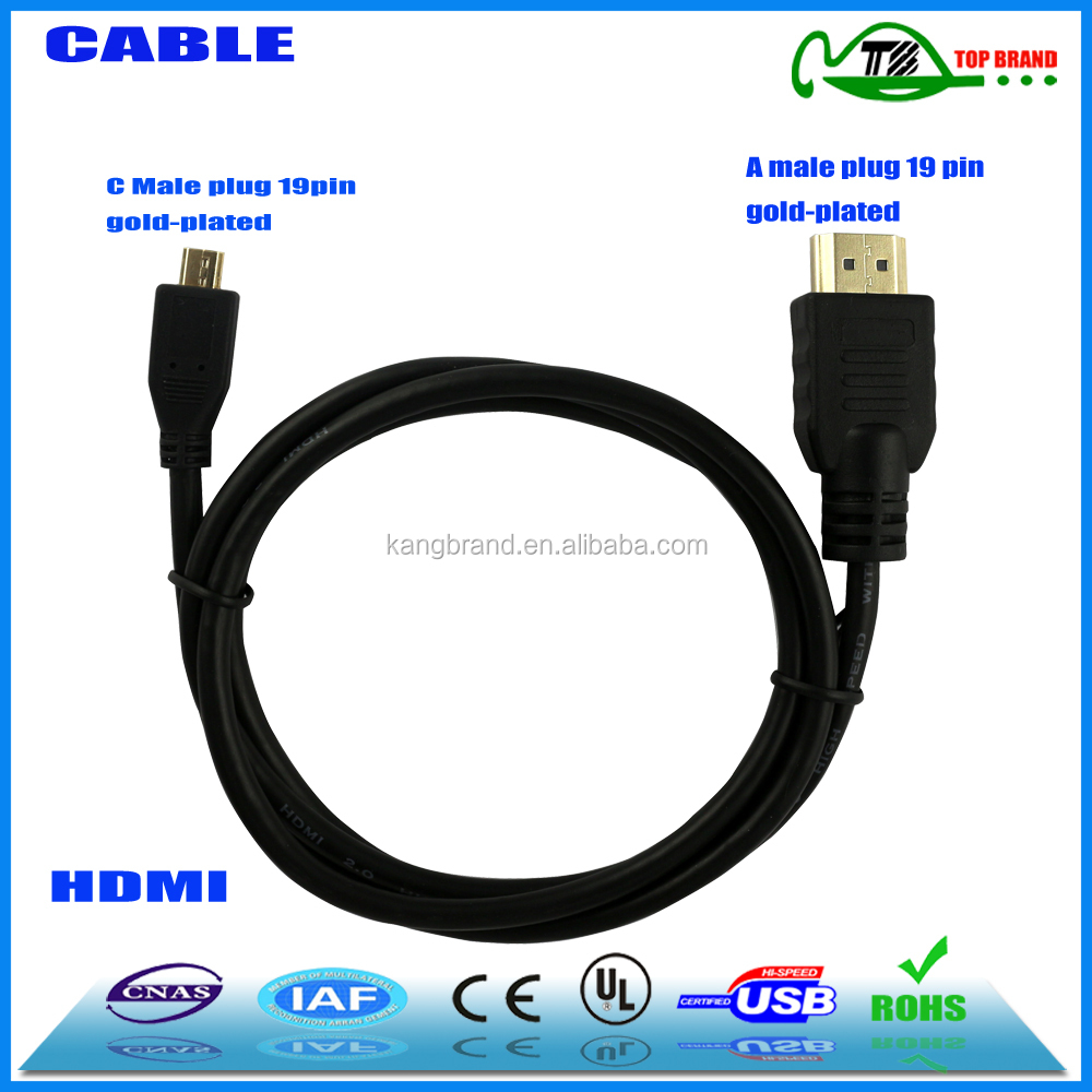 Mini HDMI To HDMI Cable USB 3.0 for Tablet Or Laptop To HDTV Support manufacturer china