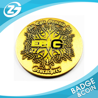 Promotional Fashionable Brand Bulk Plated Embossed Gold Old Coin