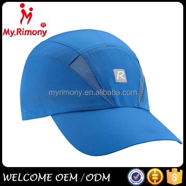 Blue mesh blank strap back sport hat for outdoor