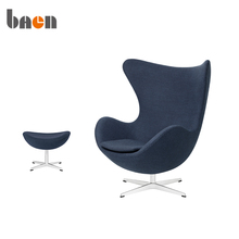 Office Hotel Relax Fabric Lounge Chair with Ottoman