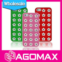Wholesale TPU flower pattern mobile phone case for iPhone 5 with exquisite gift box