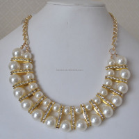 Fashion real pearl necklace price wholesale ENSNK-0009