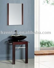 Mini vanity cabinet,Bathroom Vanity Cabinet with tempered glass basin & framed mirror