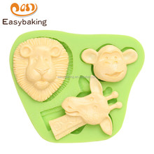 China manufacture wholesale new deisgn animal 98*82*15 silicone baking molds