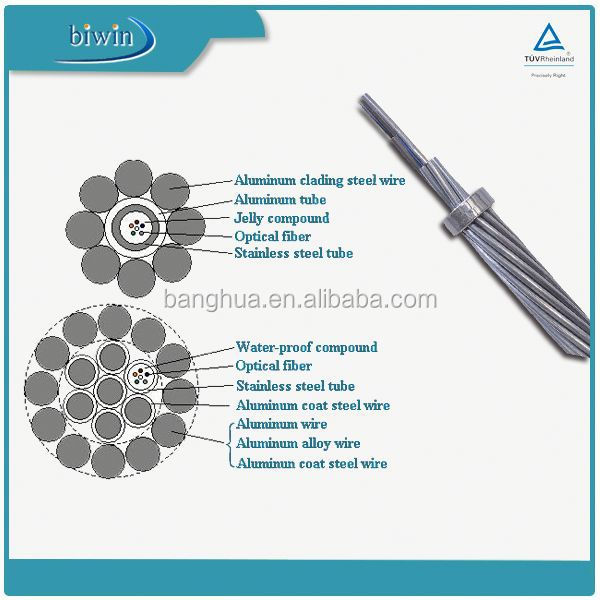 48 Core Outdoor Fiber Optic Cable OPGW