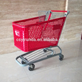 200 litre super mall zinc plated shopping cart for store