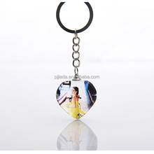 Customize 3D Laser Crystal Picture Engraved Key Chain For personal Gifts