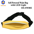 waterproof running waist bag/Outdoor sports LED waist bag