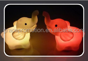 Mini elephant colorful led light night for children