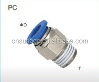 pneumatic parts male straight pneumatic fittings PC series