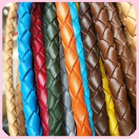 Factory Wholesale Braided Men Genuine Leather Cord 3/4/5/6mm For Jewelry Cording