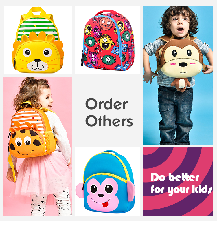 New Fashion Animal Cartoon Backpack Baby Bags 1-6years Children Backpack