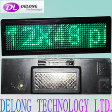 Factory price 12X48dots mutli-language scrolling programmable message usb led badge