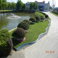 different color plastic garden edging