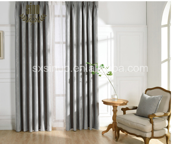 Simple Design Solid Color Luxury Thermal Insulated Blackout Curtain