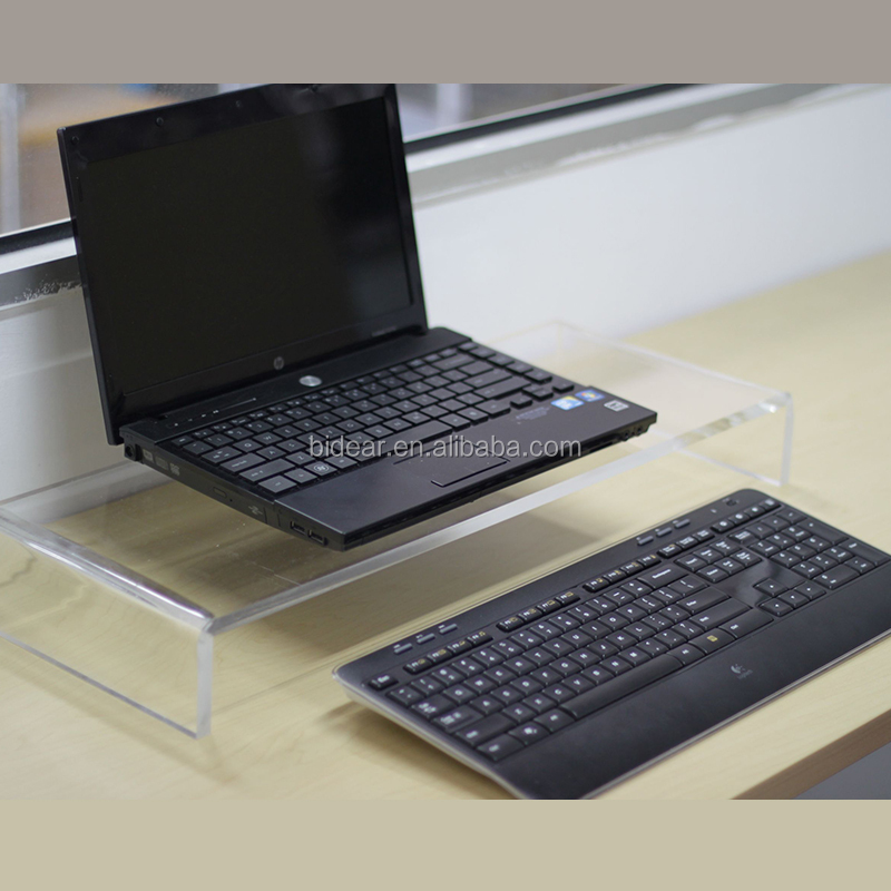 top quality clear acrylic desktop monitor stand for laptop
