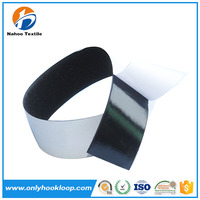 Hook and loop sheet / magic tape with hot melt glue adhesive backing pads sheets