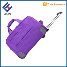 New product eminent vogue trolley bag purple carry-on duffel bag with trolley