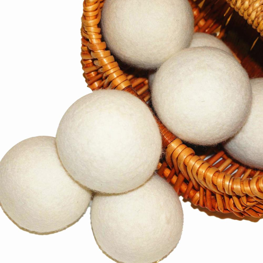 No lint Soften fabric premium felted wool tumble New Zealand Wool Felt Laundry Dryer Ball