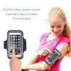 2016 New LED Armband for mobile phones with key holder and adjustable reflective band