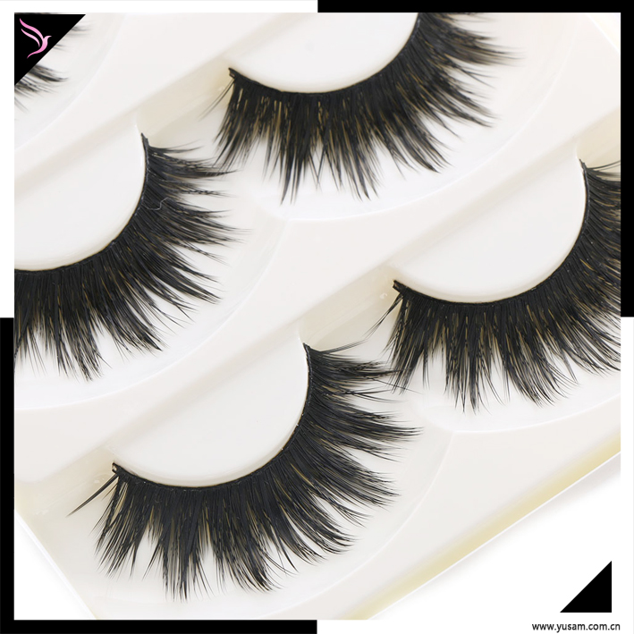 wholesale 5 Pairs private label 3d mink eyelashes makeup thick false eyelashes