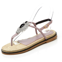 Beach New Design Fashion Girls Flat Shoes With Classic Diamond Flip Shoe Flop