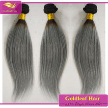 Noble Hair Grade 5A Silky Straight Wave gray no synthetic hair with gray color virgin grey straight hair extension