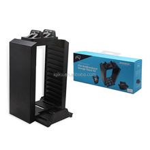 Wholesale Price Multifunctional Game Disk Storage Tower Holder+Controller Charging Station Stand For PS4 Controller