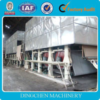 Full production line mini type advanced waste paper recycling kraft paper machine with new technology in competitive price