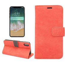 Sheep PU Leather Wallet Stand PC Hard Case for iPhone X