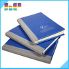 embossing leather cover note book with pen
