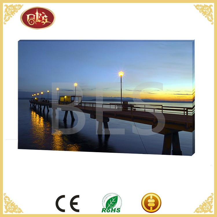 Wholesale Home Canvas Decoration Led Bridge Sea Shell For Painting